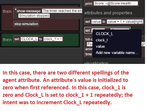 Timer simulation doesn't end because of spelling mix-up of clock_1 instead of Clock_L