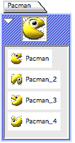 Pacman With 4 depictions