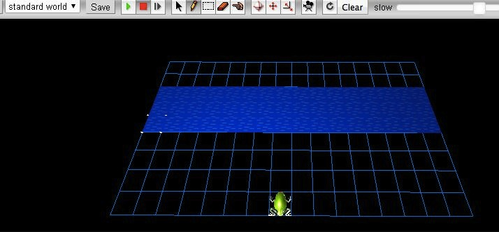 Partial Frogger game with normal controls