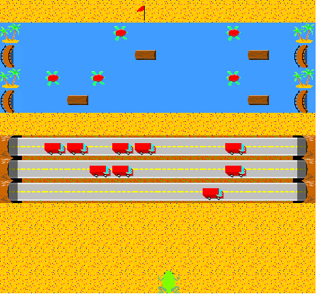 Frogger-like game
